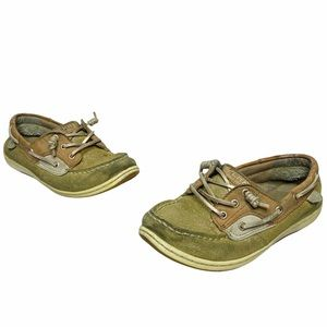 Sperry | Songfish Youth Tan Sparkly Boat Shoes